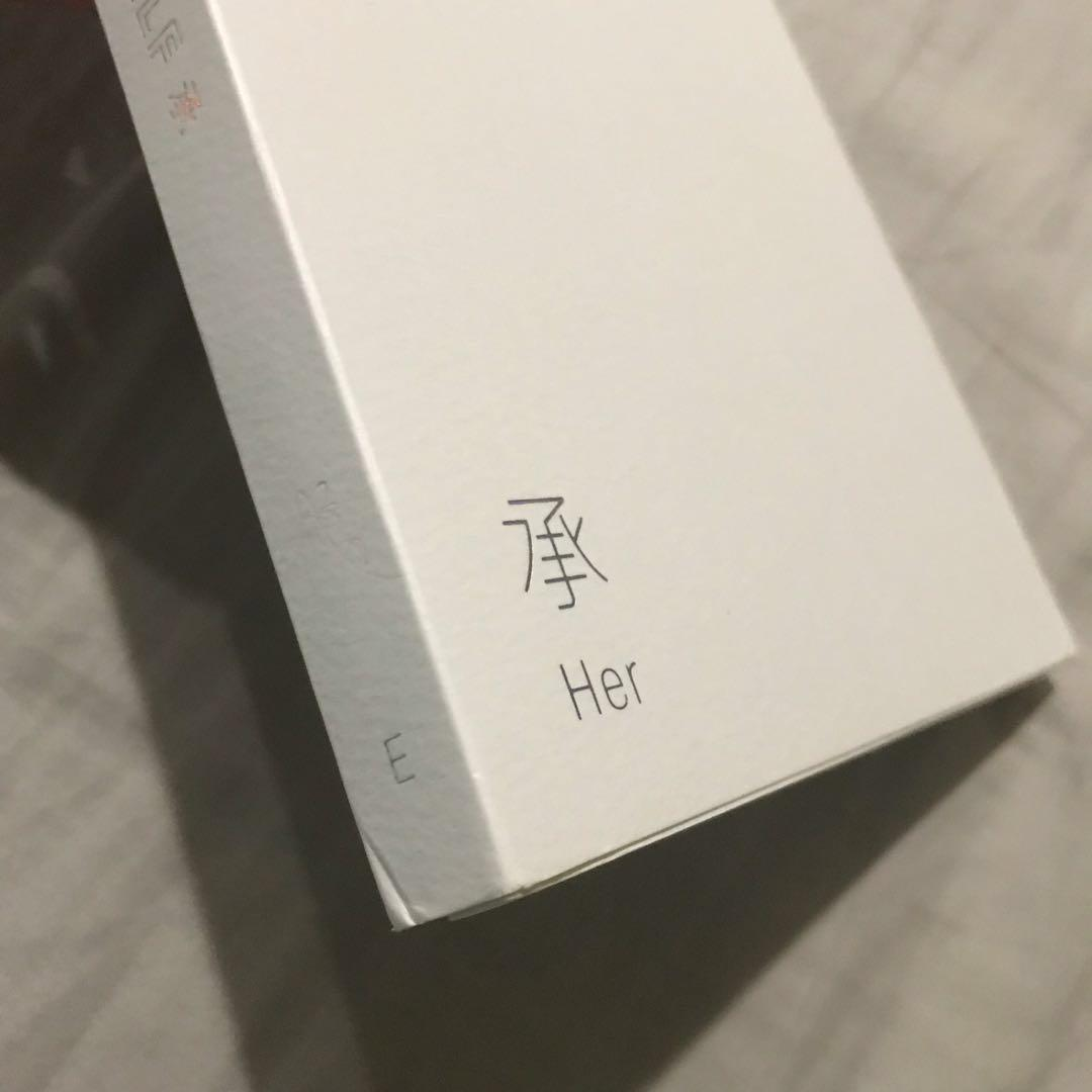 BTS Love Yourself: Her E version (w/o pc and sticker sheet)