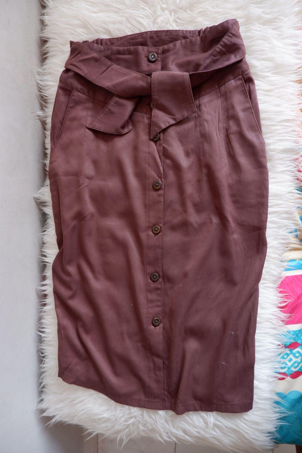Button skirt choco