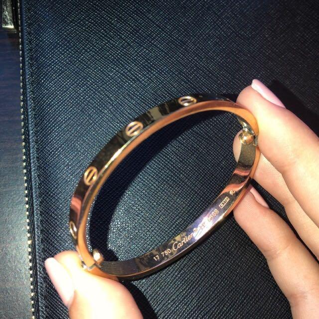 Cartier Love bracelet size 17 rose gold