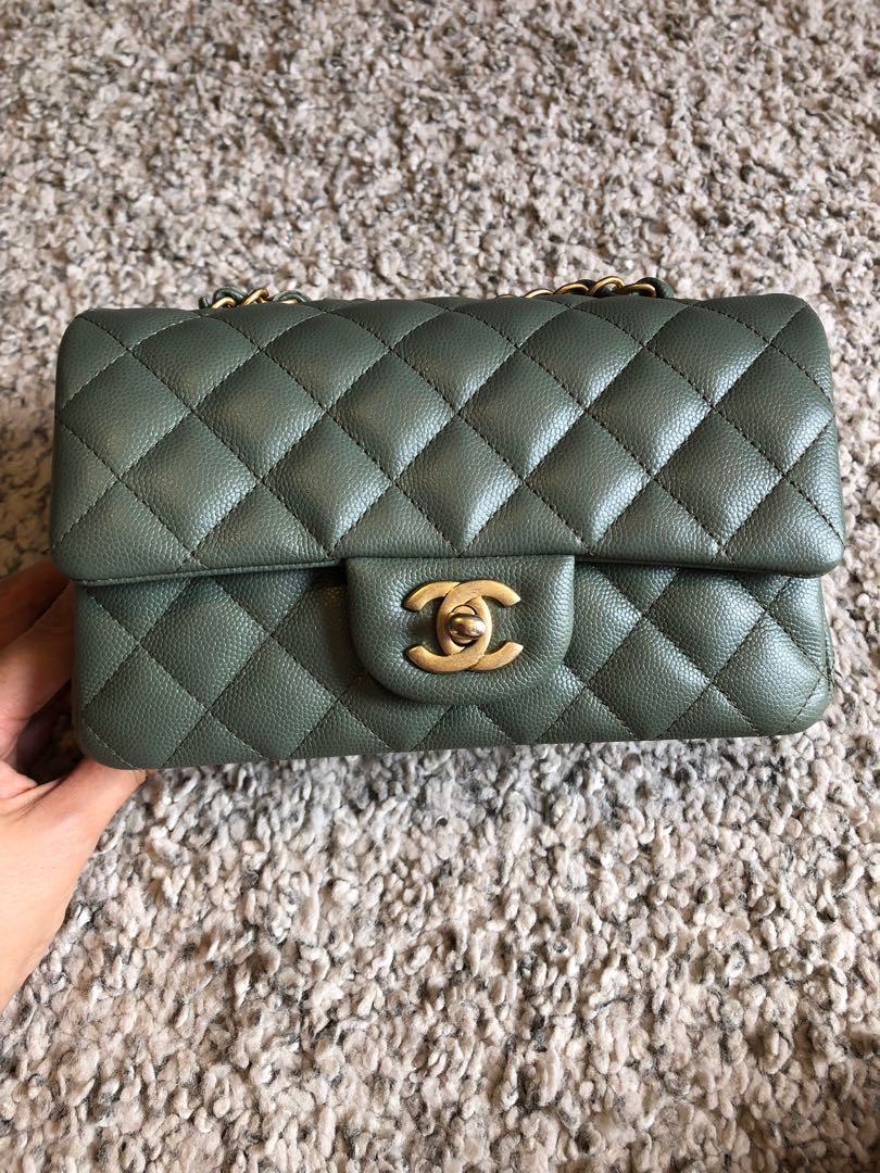 f267e94c8393 💚Chanel Iridescent Olive Green Mini Bag💚, Luxury, Bags & Wallets ...
