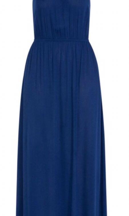 City Chic Navy Tassel Tie Maxi Dress Size 16 BNWT
