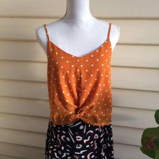 Cotton on orange dot cami