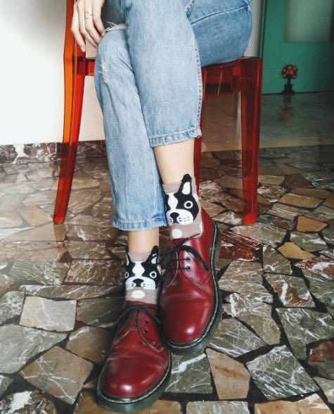 Dr Martens Red Cherry Low Cut Oxford Shoes