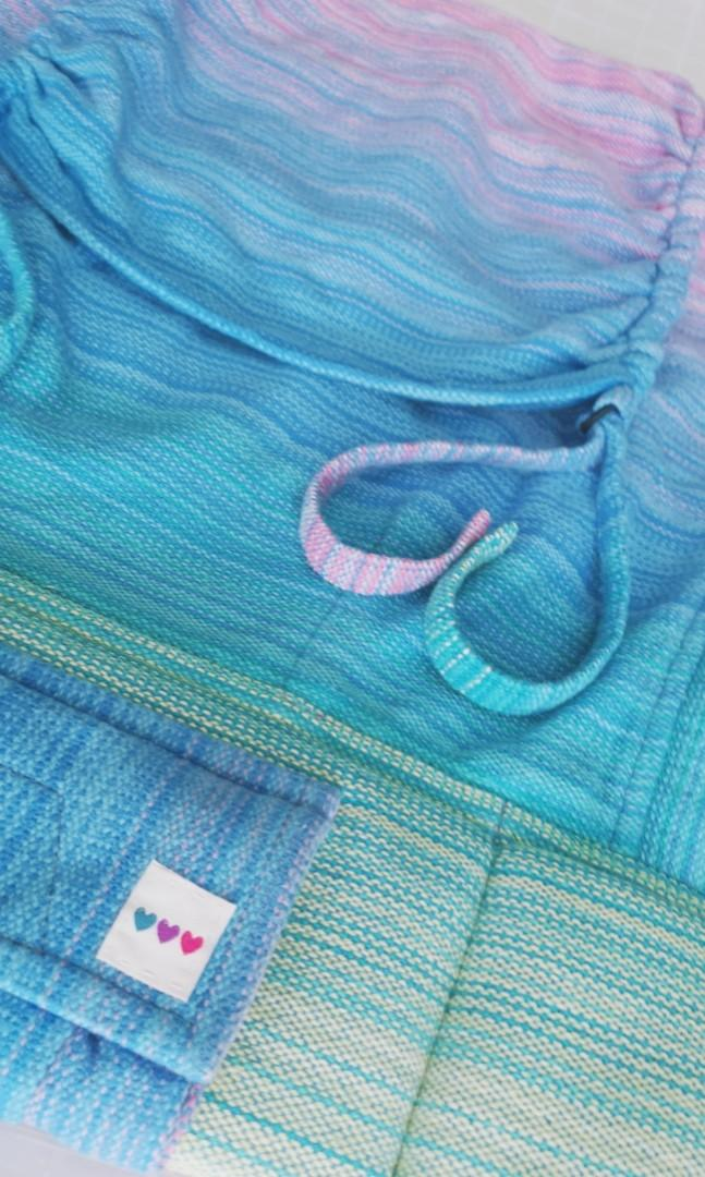 EEUC Tula Toddler Half - Oobiebean&dolly Evangeline Blue Weft