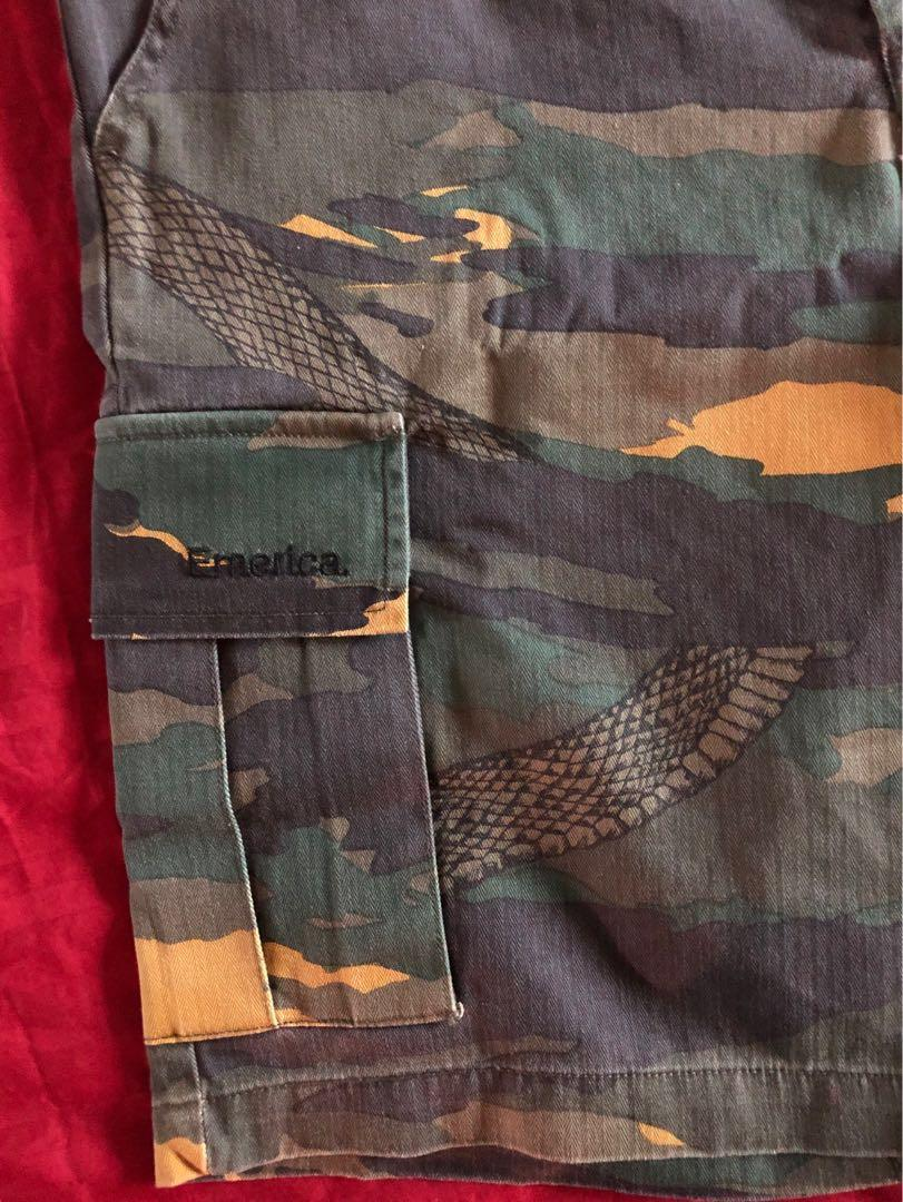 Emerica Tour Cargo Shorts (Camo with Snake print)
