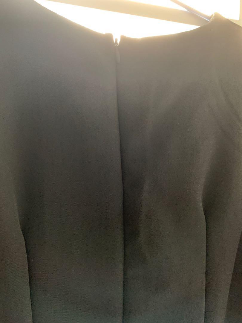 Grad din斯文全黑韓版裙