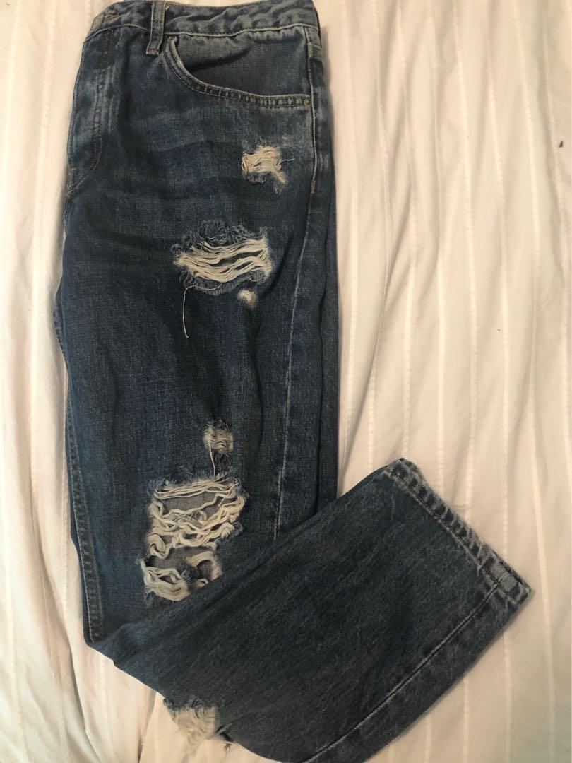 Hayden Boyfriend Topshop Ripped Jeans