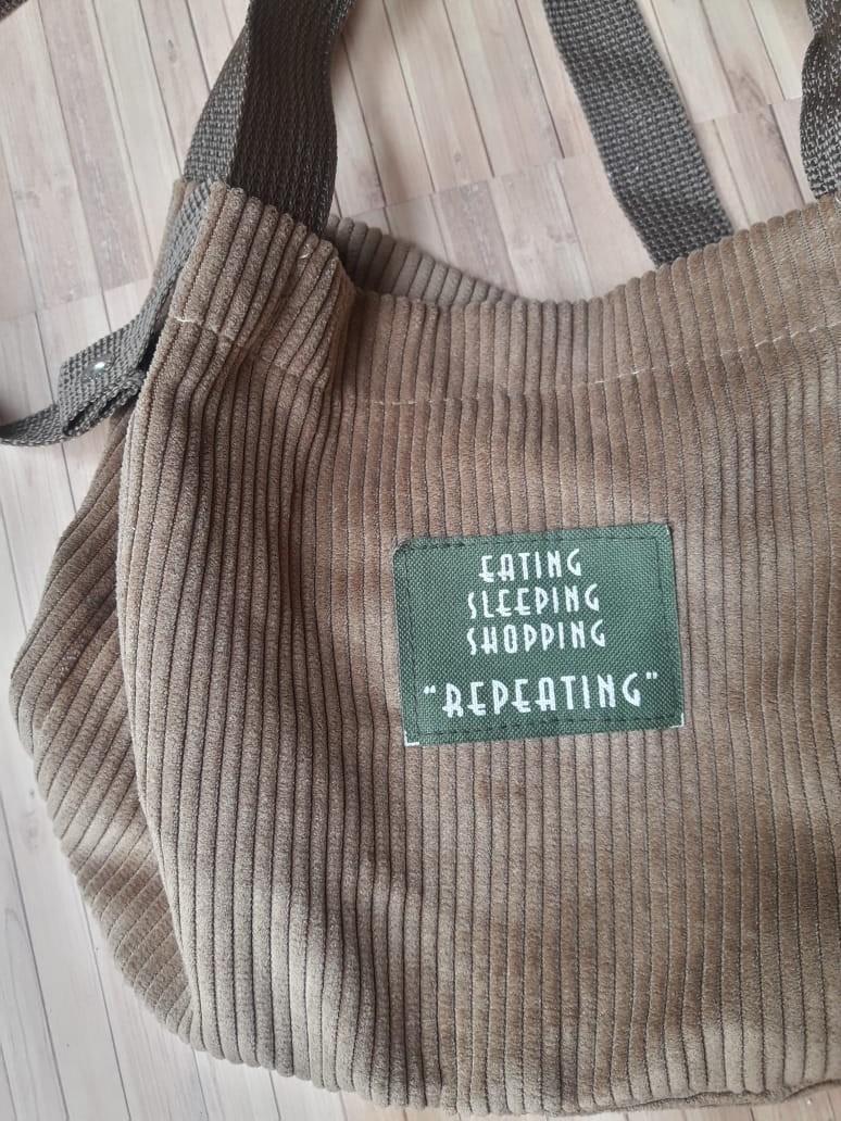 korean slingbag coduroy