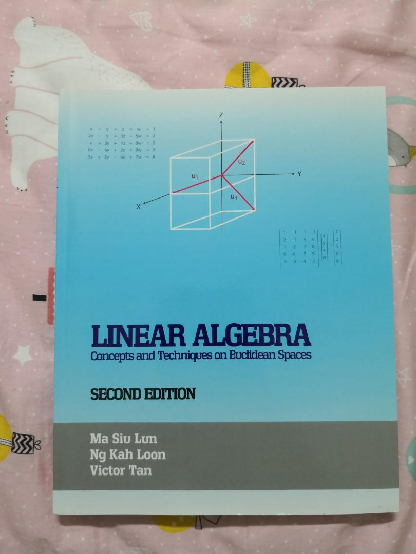 linear algebra nus ma1101r text book