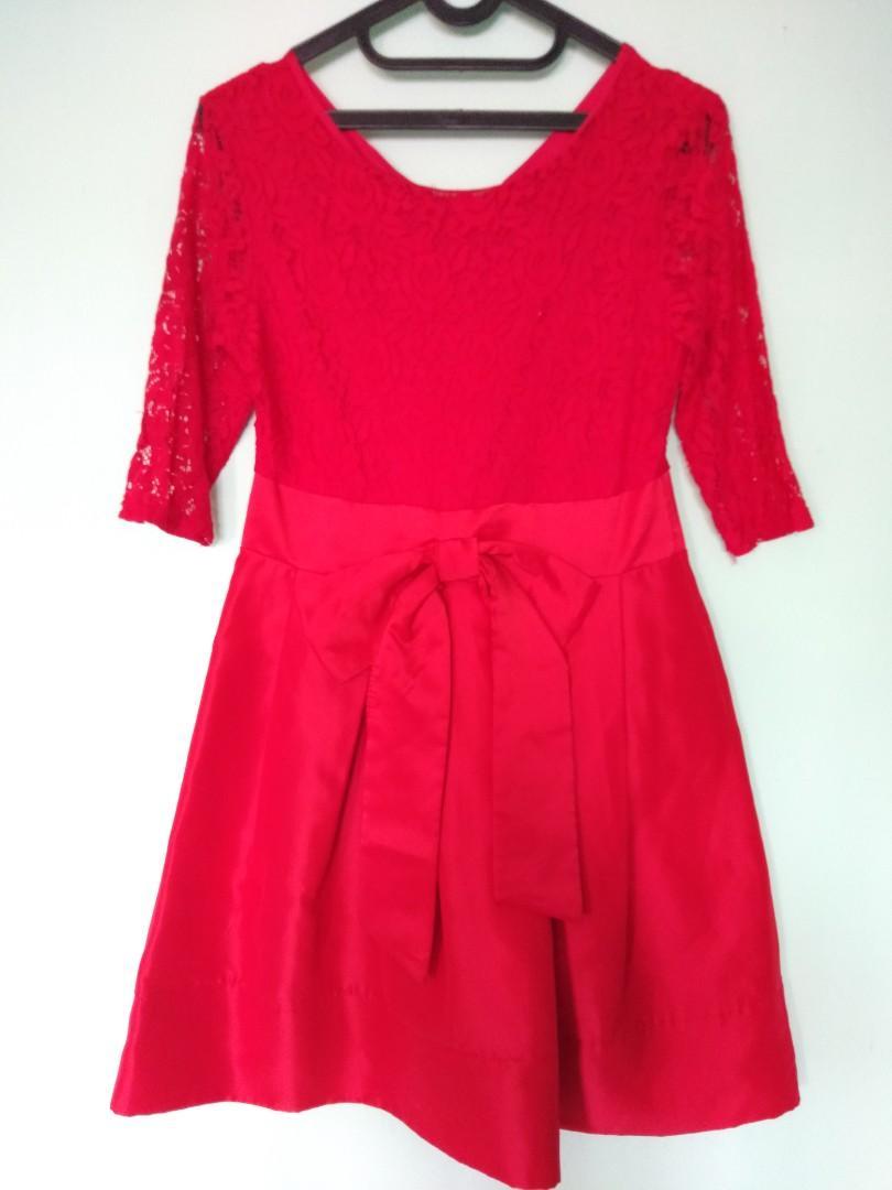 Ling Ling Brokat Red Dress