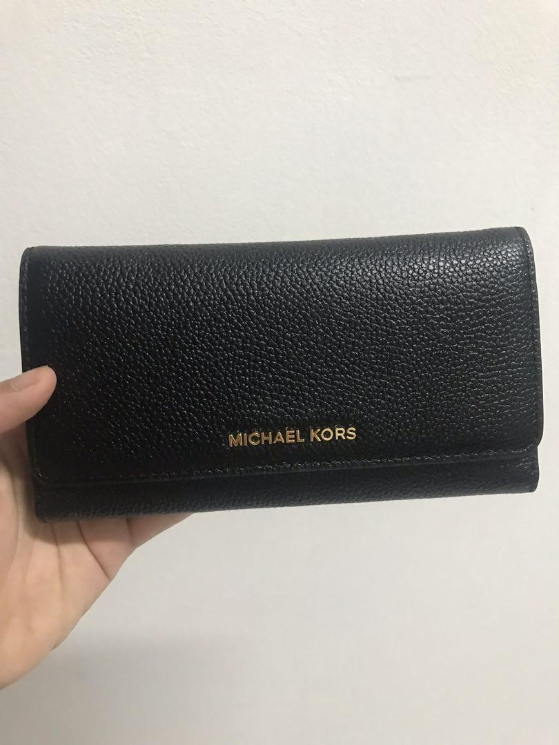 Michael Kors Wallet Dompet MK Original (No Bag) Black