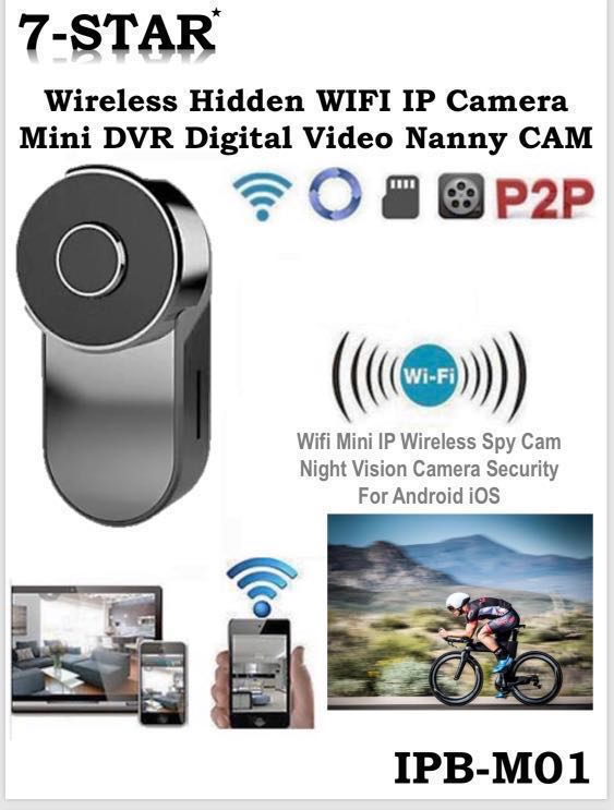 Mini Portable Wifi Hidden Wireless IP Spy Camera with Rechargeable Built in  Battery CCTV IP Camera (Mobile APP:HDMiniCam)