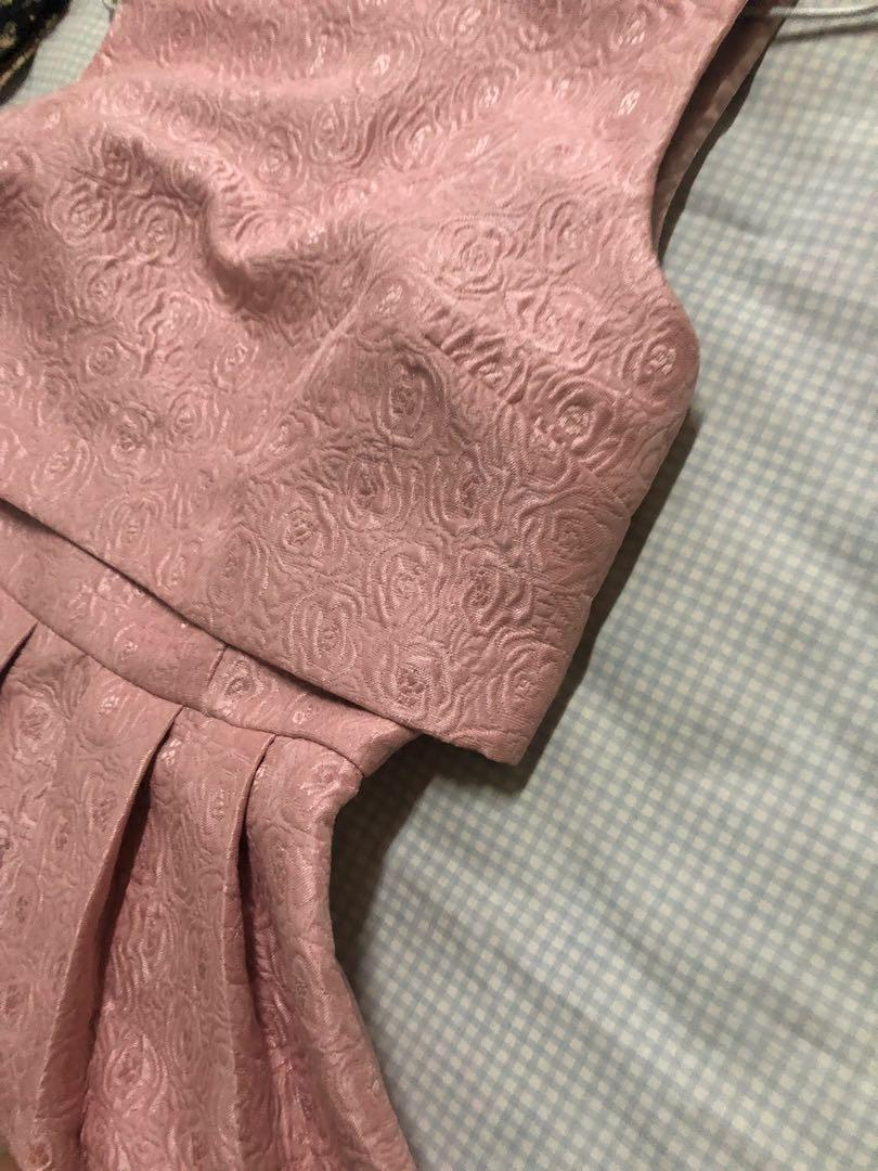 MISS SELFRIDGE PINK JAQUARD DRESS