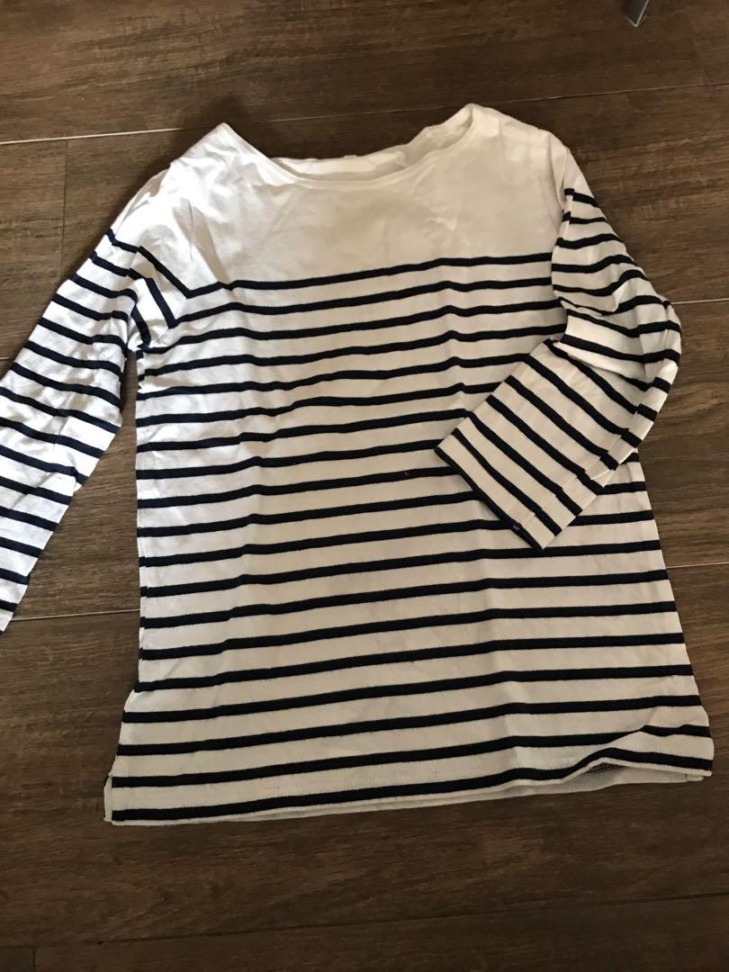 Muji striped top