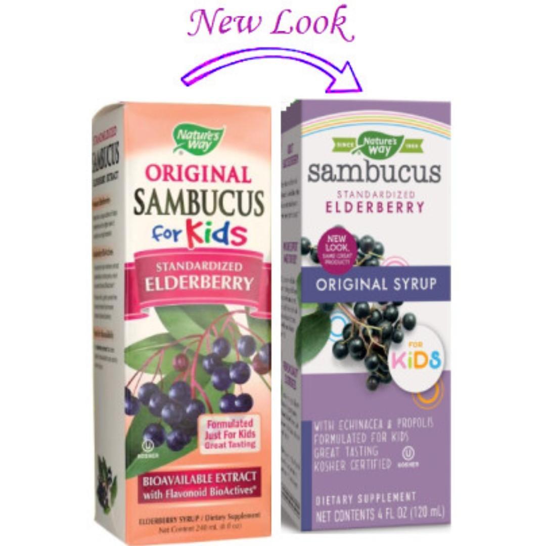Nature's Way Sambucus for Kids 兒童黑接骨木汁 __ 流感 傷風感冒 免疫力