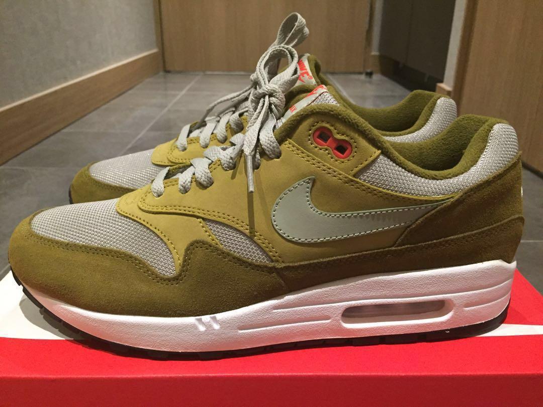 Nike Air Max 1 Premium Retro (Curry Pack Olive), Men's