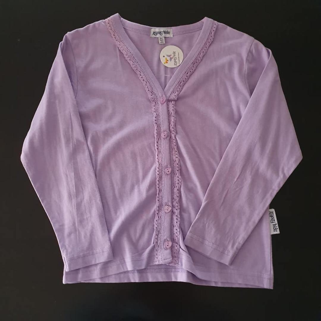 NWT Size 4 years long sleeve button up top generous fits 5-6 too