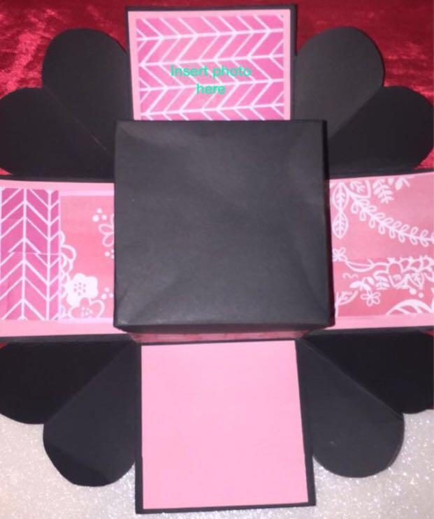 Pink explosion box (personalised)