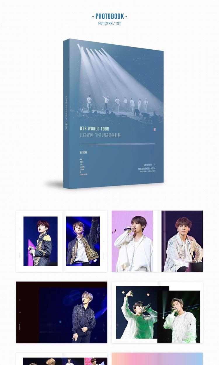 (Pre-Order) BTS LOVE YOURSELF IN EUROPE & NEW YORK  DVD SET