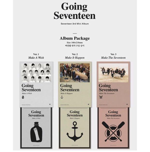 [PREORDER] SEVENTEEN 3rd Mini Album-GOING SEVENTEEN