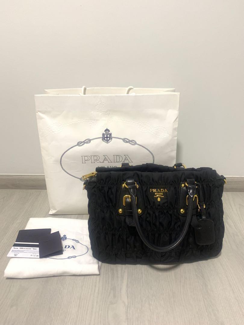 78dbe94dfd47 💥PRICE REDUCED💥 Prada Nylon Tessuto Gaufre Tote, Luxury, Bags & Wallets,  Handbags on Carousell