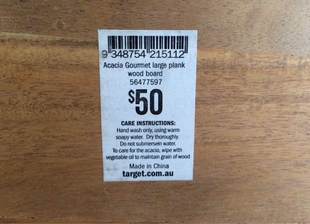 60 CM Long! ACACIA Wooden Gourmet Food Serving Board / Plank
