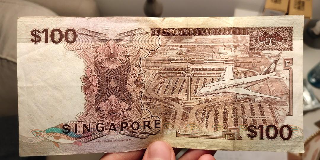 Rare Collection old SGD Bank Notes $100