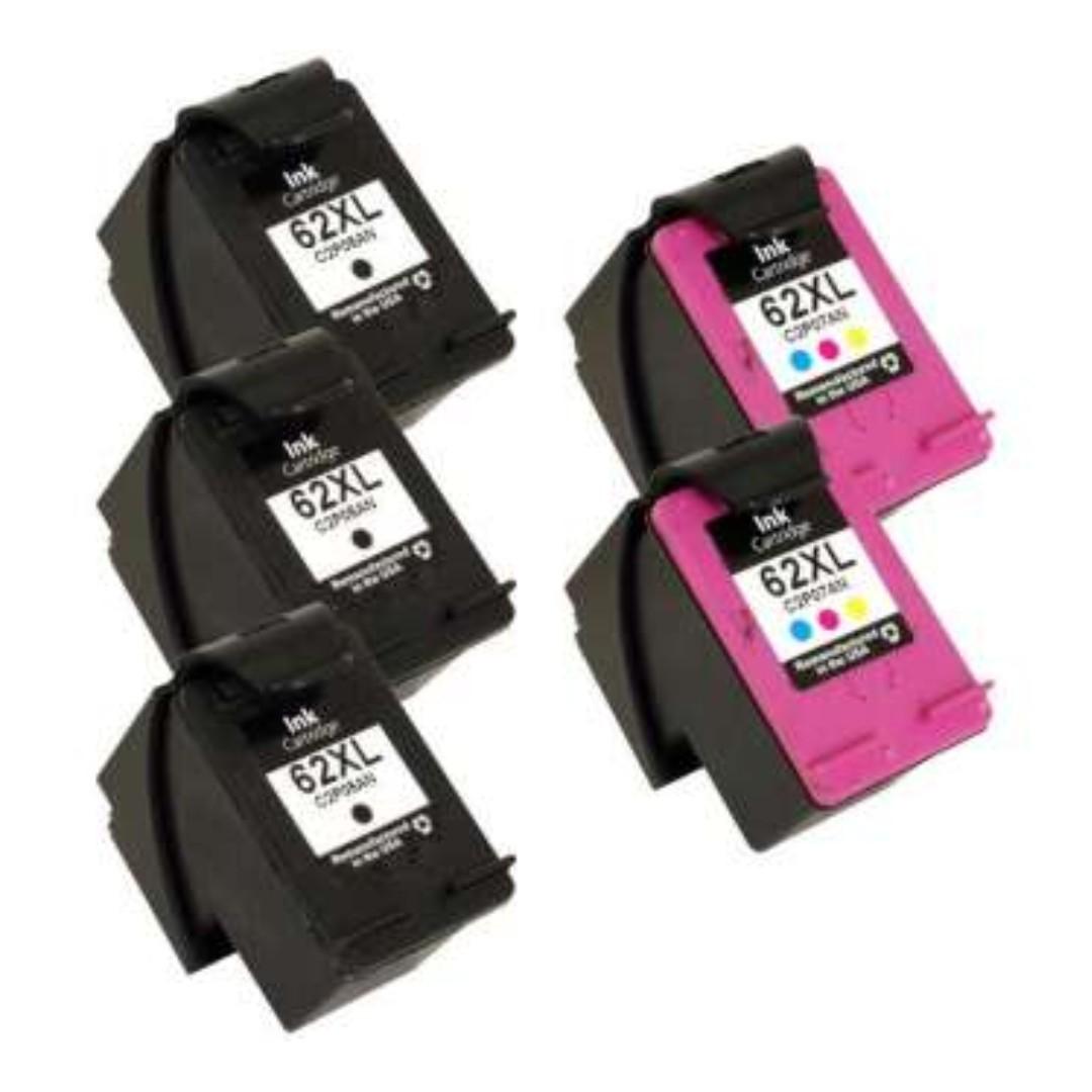 Remanufactured HP62XL (Black/Color) ink cartridge