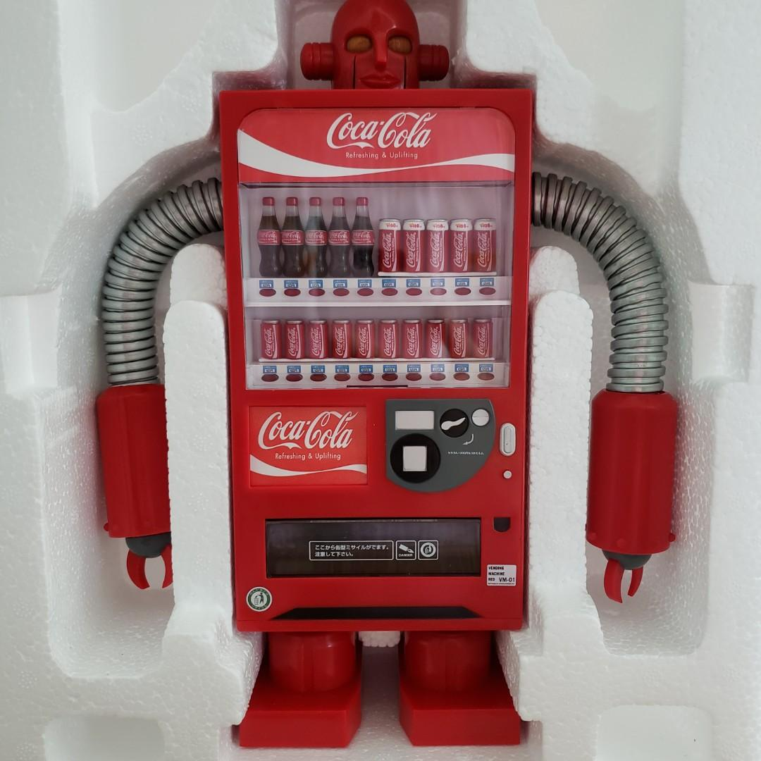合Re-ment 胡迪 場景 Coca Cola 可口可樂 販賣機 汽水機 食玩 機械人 錢箱