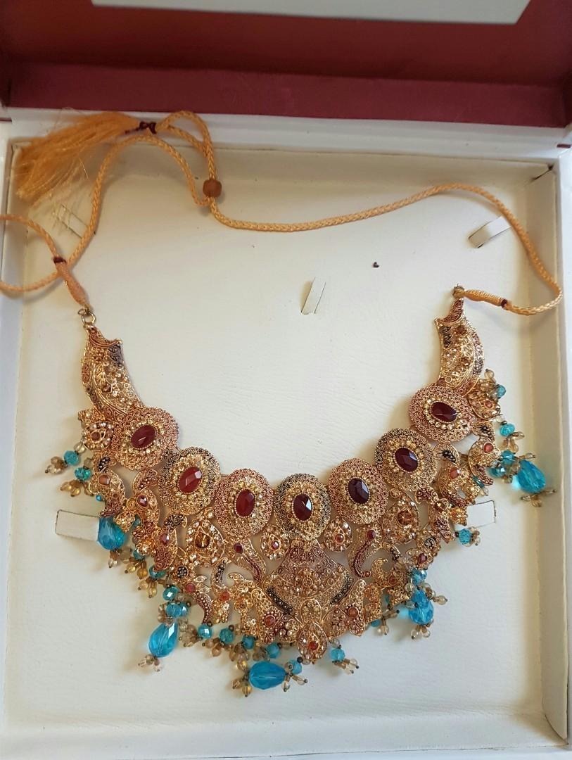 *Rent* 22K Gold Plated Indian-Pakistanin Wedding Jewelry Set