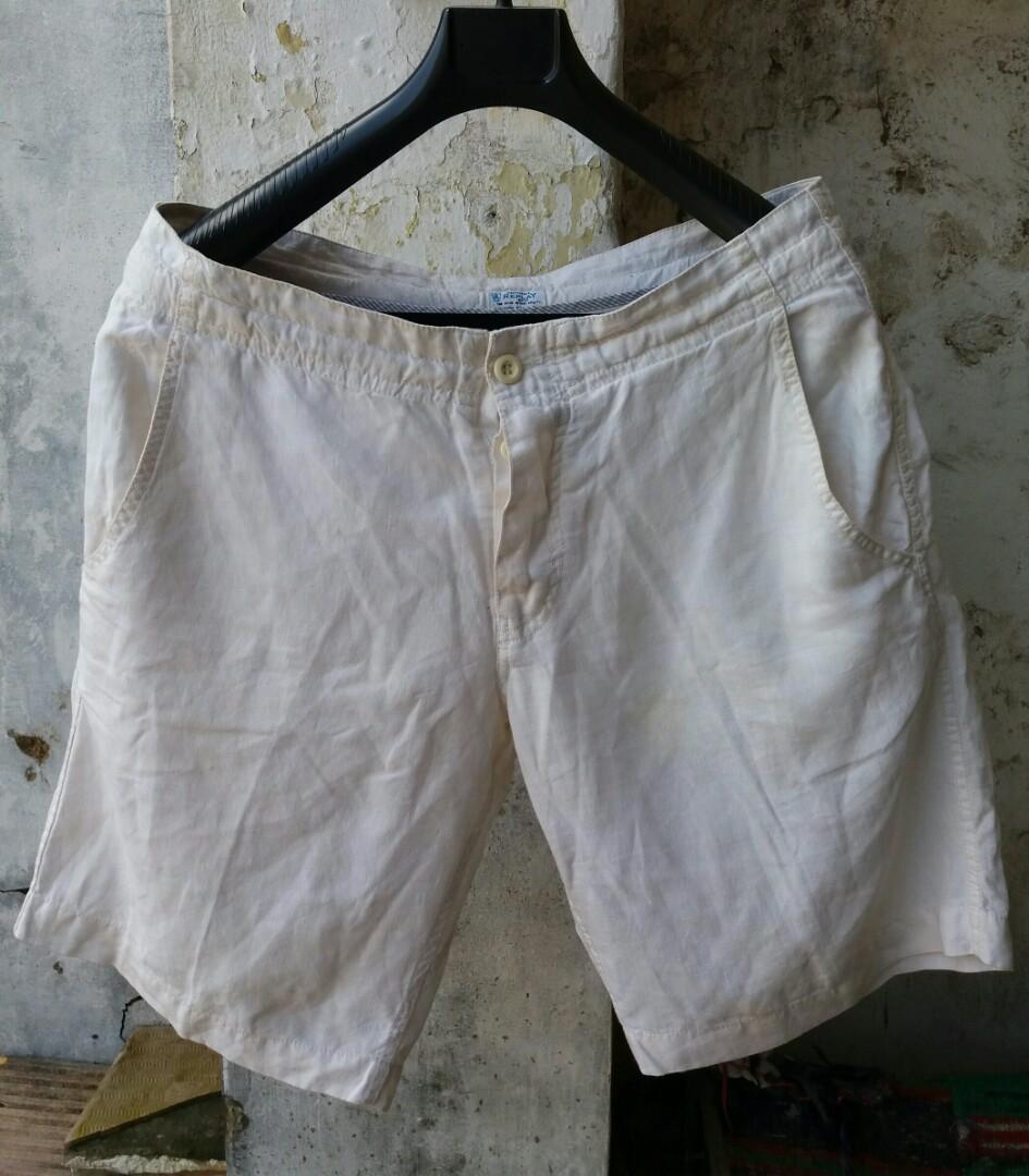 Replay White Linen Short
