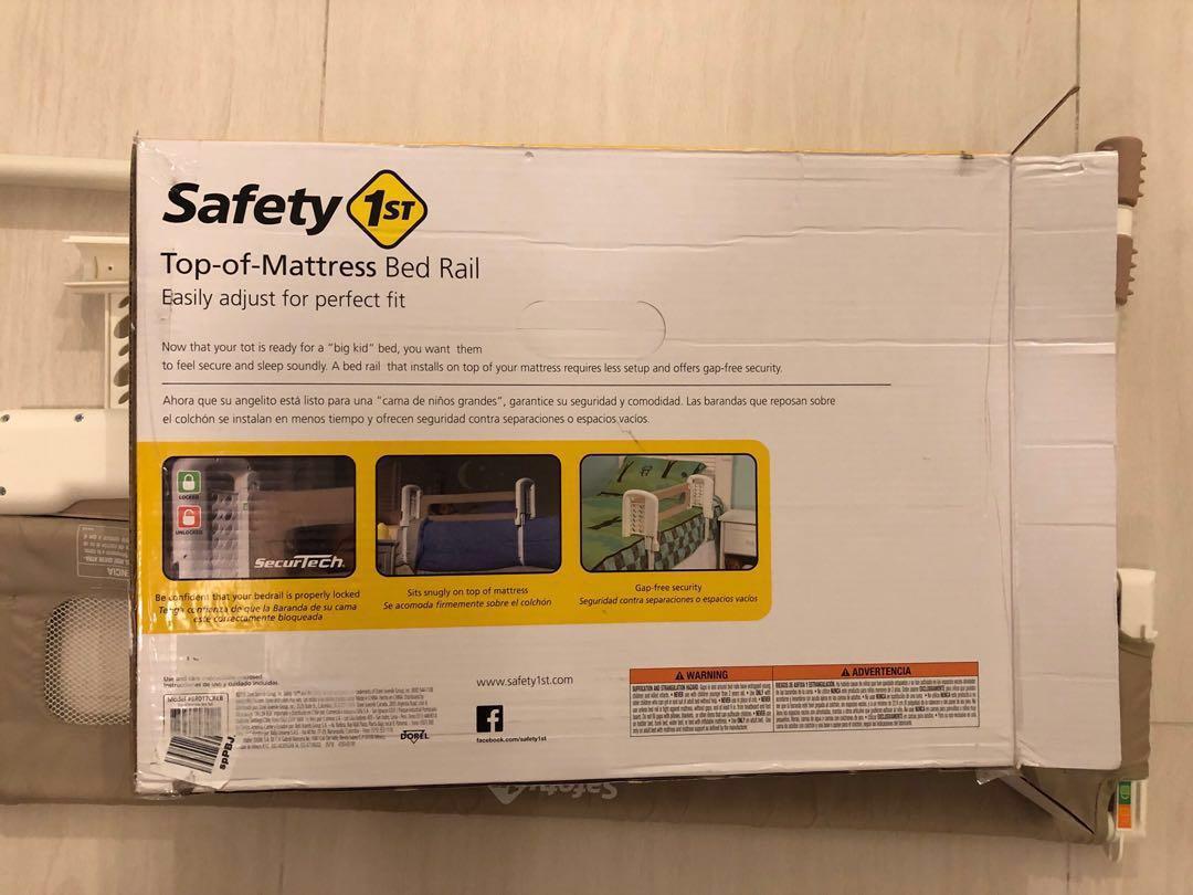 Safety 1st top of mattress bedrail - cream