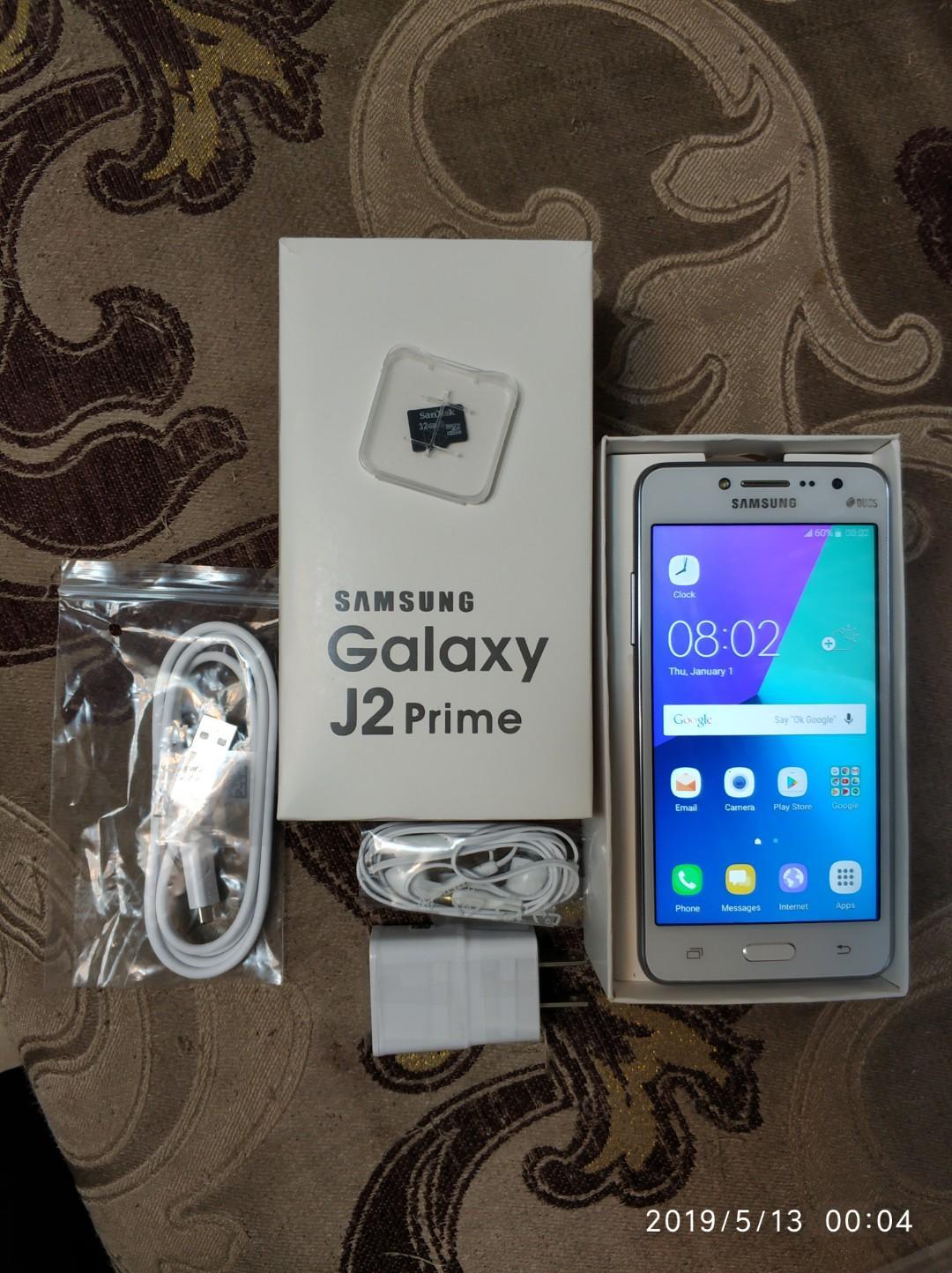 SAMSUNG J2 8GB REM 2GB RAM + 32GB MEMORY CARD FULLY NEW CHARGER+HEADPHONE+BOX OPEN LINE