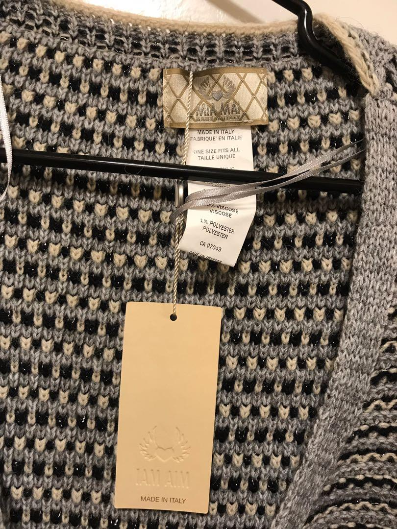 Shawl sweater scarf