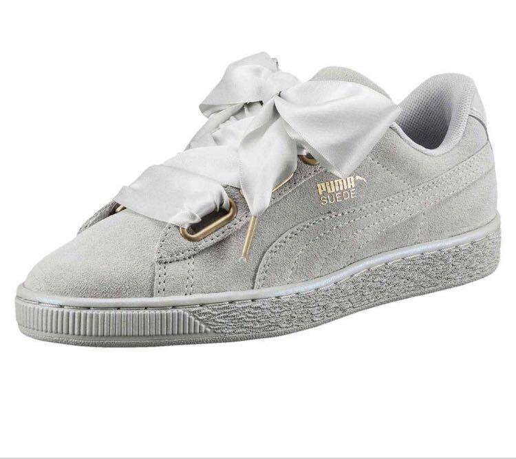 Size 37.5 Puma Suede Hearts Grey, Women