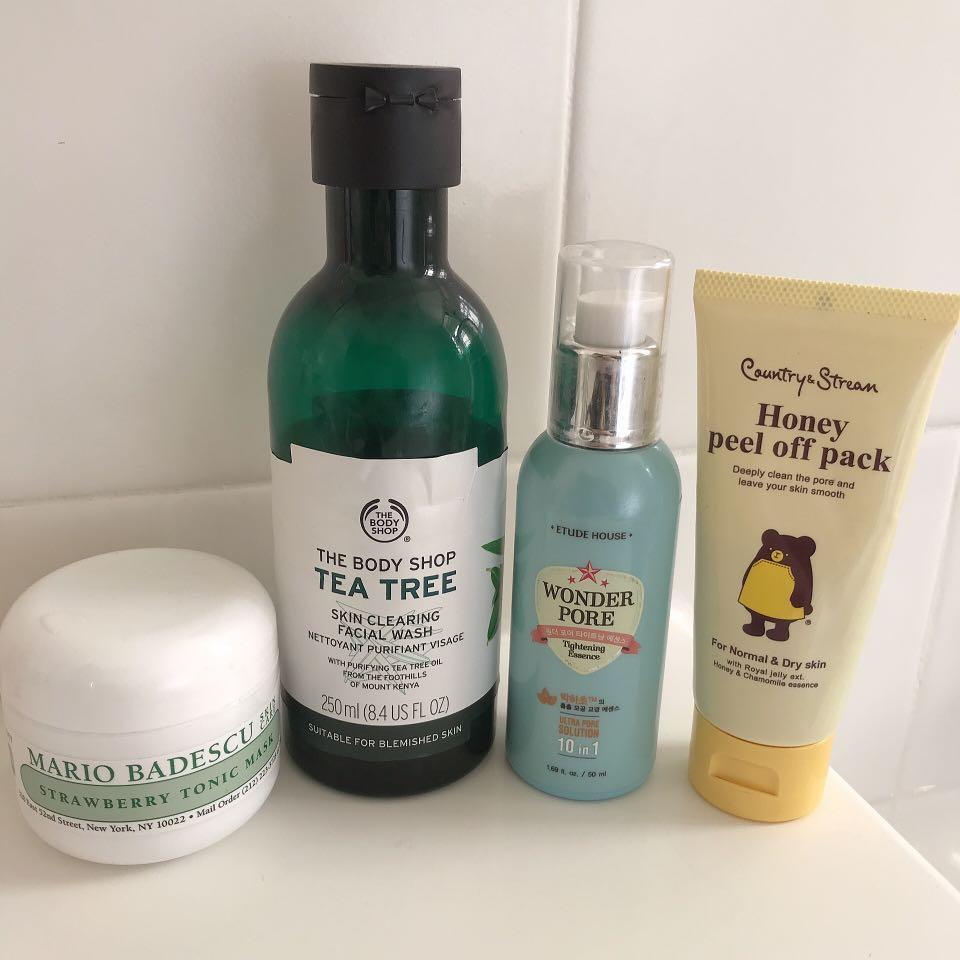 Skin Care Bundle! (Mario Badescu, Body Shop, Etude House etc)