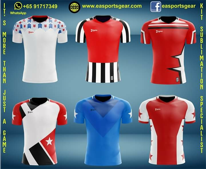 b3d3f861e98 Soccer Jersey custom personalised own design, Sports, Sports Apparel on  Carousell