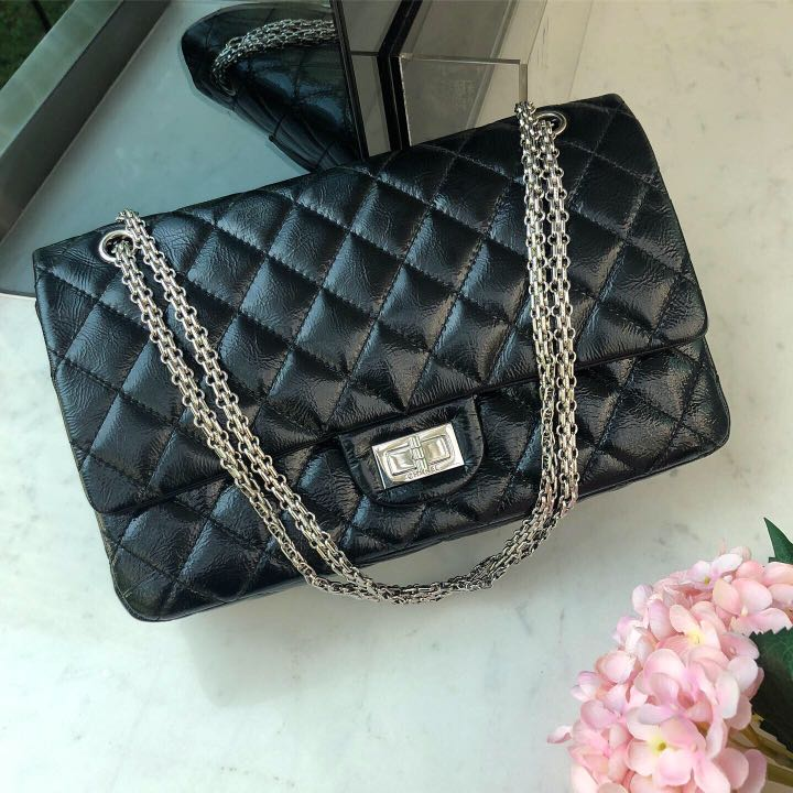 b1ef93c66c33 🖤Superb Deal Full Set🖤 Chanel 2.55 Reissue 227 Flap in Black ...
