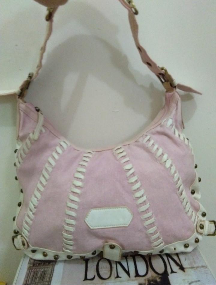 Tas pink putih