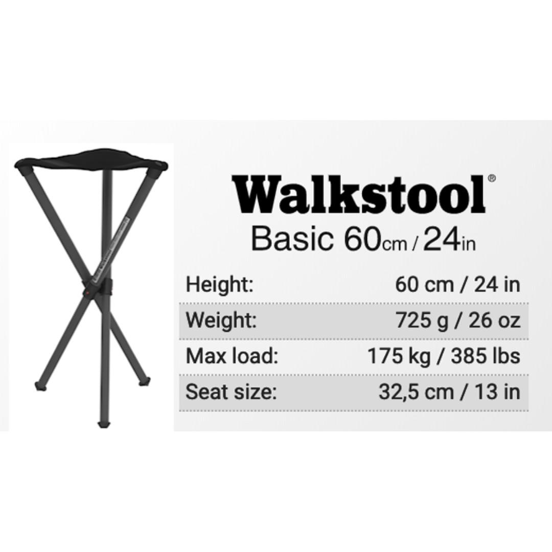 Fantastic Walkstool Portable Folding Stool Basic 60Cm 24 Inch Sports Squirreltailoven Fun Painted Chair Ideas Images Squirreltailovenorg
