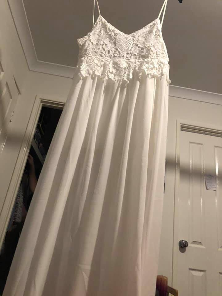 Wedding gown or ball gown as it's brand new never worn and is negotiable