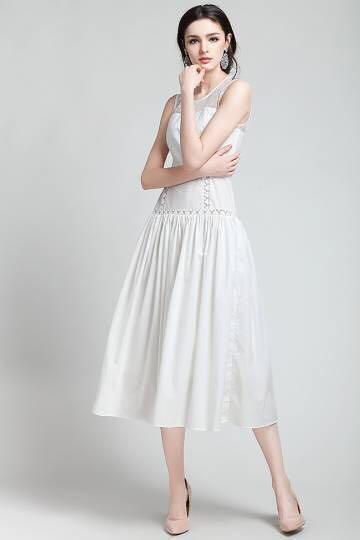 White Midi Sundress Dress