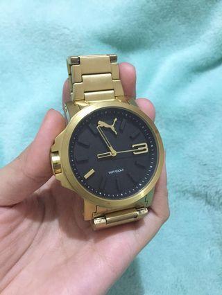 Jam tangan Puma gold cowo