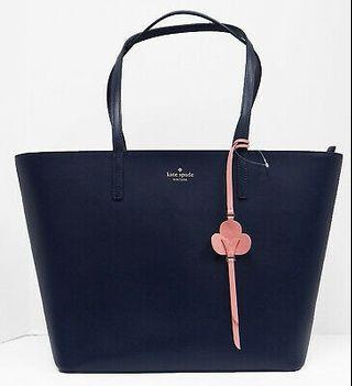 Kate Spade Leather Tote Handbag in Blazer Blue (Dark Navy)