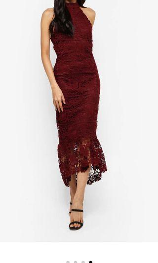 Missguided Red Lace Dress