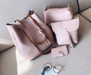 🚚 [PO-KW] Shoulder Bag Set 4 in 1