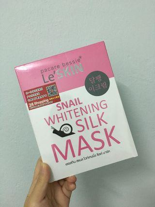 Le'Skin Snail Whitening Silk Mask