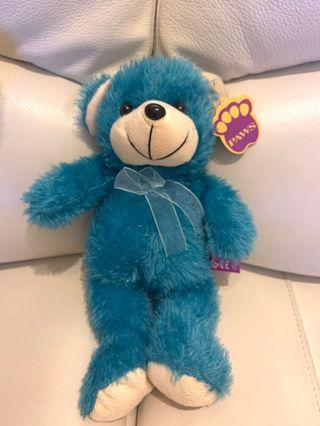 藍色絲帶小熊