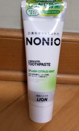 日本獅王最新防口臭殺菌牙膏 Nonio