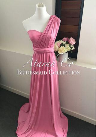 🚚 Bridesmaid Infinity Convertible dress rose pink